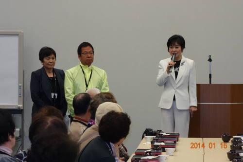 山東昭子先生から歓迎のご挨拶