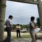 淡路市江井の平見神社の大鳥居