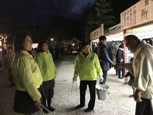 伊奘諾神宮での湯茶の接待と清掃活動 原テツアキ